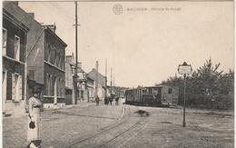 BAUDOUR. Prés De Tertre, Sirault Et Ghlin. TRAM VAPEUR. STOOMTRAM. Postée 1920. Voir 2 Scans - Belgique