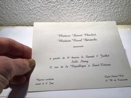 Carte De Visite  Saint-Étienne  Receverons - Visiting Cards