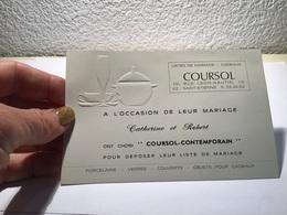 Carte De Visite  Saint-Étienne Liste De Mariage Cadeaux - Visiting Cards