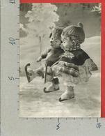 CARTOLINA VG GERMANIA - MECKI - Eisläufer - Pattinatori Sul Ghiaccio - 10 X 15 - ANN. 1960 - Mecki