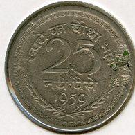 Inde India 25 Paise 1959 (c) KM 47.1 - Inde