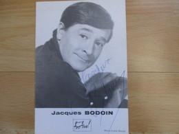 Photo Dedicacee Jacques Bodoin - Autogramme & Autographen