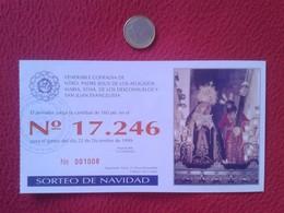 SPAIN PARTICIPACIÓN DE LOTERÍA NACIONAL NATIONAL LOTTERY LOTERIE NATIONALE RELIGIÓN CHRIST JESÚS LOS AFLIGIDOS CHICLANA - Billetes De Lotería