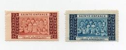 Erinnophilie Vignette Sainte-Enfance Afrique Cap De Bonne Espérance Soeurs Dominicaines (2 Vignettes) - Afrique Du Sud (1961-...)