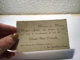 Carte De Visite La NaissNaissance De Leurs F Naissance De Leur Fille - Visiting Cards