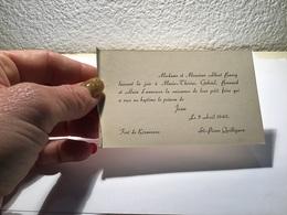 Carte De Visite Fort De Keranroux Saint Pierre Quilbignon - Visiting Cards
