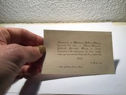 Carte De Visite Naissance - Visiting Cards
