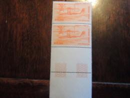FRANCE N° 58 POSTE AERIENNE  20 F    PAIRE ET BORD DE FEUILLE   TB  PARFAIT - Airmail