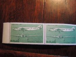 FRANCE N° 60 POSTE AERIENNE   50 F    PAIRE ET BORD DE FEUILLE   TB  PARFAIT - Airmail