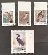 Zambia  Birds  Surcharged LOT - Zambia (1965-...)