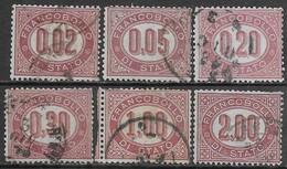 Italia Italy 1875 Regno Servizio Di Stato 6val Sa N.SE1-SE6 US - 1861-78 Vittorio Emanuele II