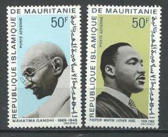 "Mauritanie Aerien YT 81 & 82 (PA) "" Apôtres De La Paix "" 1968 Neuf** - Mauritanie (1960-...)"