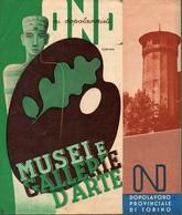"""0981 """"TORINO - AI DOPOLAVORISTI - MUSEI E GALLERIE D'ARTE -  NORME PER LE VISITE""""  PIEGHEVOLE TURISTICO - Dépliants Touristiques"""