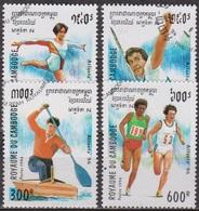 Sport, Jeux Olympiques - Atlanta - CAMBODGE - Gymnastique Dame, Lancer Du Javelot, Canoé, Course De Fond - 1994 - Cambodge