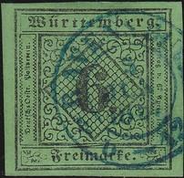 Wurttemberg      .   Michel   3      .        O     .    Gebraucht     .   /   .   Cancelled - Wuerttemberg