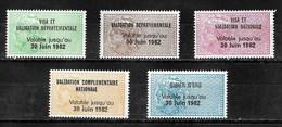 Timbres Fiscaux Fiscal Lot Taxe Permis De Chasse 1982 (cote 230€) - Revenue Stamps