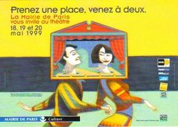 """Carte Postale """"Cart'Com"""" (1999) - La Mairie De Paris Vous Invite Au Théâtre - Illustration : Lorenzo Mattotti - Illustrateurs & Photographes"""