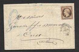 Lettre De Montelimar Avec N°16 - 1849-1876: Période Classique