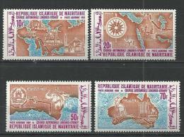 "Mauritanie Aerien YT 94 à 97 (PA) "" Course Automobiles "" 1969 Neuf** - Mauritanie (1960-...)"