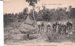 CPA MAN (CÔTE-D'IVOIRE) LABOUREURS NEGRES - Côte-d'Ivoire