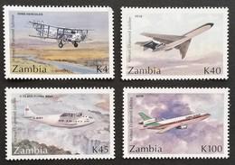 Zambia  1992 Airmail Services 75th.Anniv. - Zambia (1965-...)