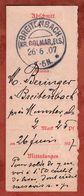 Einzahlabschnitt, KOS Breitenbach Kr Colmar Els, 1907 (71077) - Cartas
