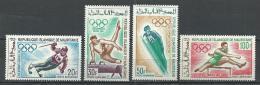 """Mauritanie Aerien YT 73 à 76 (PA) """" JO Grenoble Mexico """" 1968 Neuf** - Mauritanie (1960-...)"""