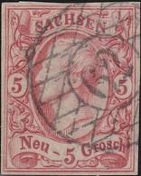 Sachsen       .   Michel   12 ( 2 Scans )      .      O     .    Gebraucht     .   /   .   Cancelled - Sachsen