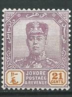 Johore   - Yvert N°  93 A *   -  Po 62130 - Johore