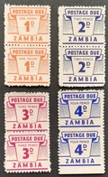 Zambia  1964 Postage Due Pairs LOT - Zambia (1965-...)