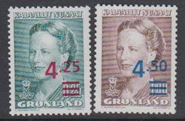 Greenland 1996 Definitives /Queen Margrethe 2v Overprinted ** Mnh (42234) - Groenland