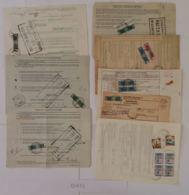 LOTTO 8 PACCHI CON AFFRANCATI BOLLETTINI (EX623 - Colis-postaux