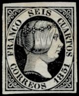 (*) 6. 6 Ctos. Aparentemente Nuevo. Cat. 350 €. - 1850-68 Reino: Isabel II