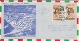 BUSTA 1960 2X5 L. OLIMP. ANNULLO VILLAGGIO OLIMPICO (EX657 - 6. 1946-.. Repubblica