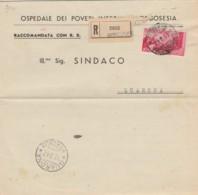 RACCOMANDATA 1947 10 L. REP.GENOVA TIMBRO BORGOSESIA QUARONA (EX678 - 6. 1946-.. Repubblica