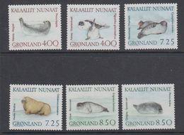 Greenland 1991 Seals 6v ** Mnh (42235) - Groenland