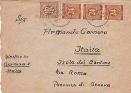 LETTERA 1946 GERMANIA TIMRO MUNICH ISOLA DEL CANTONE (EX716 - 1946-60: Storia Postale