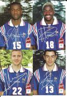 FOOTBALL - EQUIPE DE FRANCE  FOOTBALL 1998 - PIRES BA MAURICE THURAM COUPE DU MONDE FRANCE 98 - WORLD CUP - 4 CP - Football