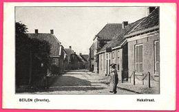 Beilen - Drente - Hekstraat - Animée - ** Apparemment Carte Contrecollée - Fabrication Maison ** - Nederland