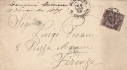 LETTERA 1889 FRANCIA TIMBRO PARIS CAMBON  FIRENZE (EX727 - France