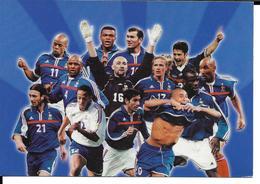 FOOTBALL - EQUIPE DE FRANCE  FOOTBALL 2000 - ZIDANE LIZARAZU  DUGARRY EURO FOOTBALL CHAMPIONNAT D'EUROPE - TOTAL - Football