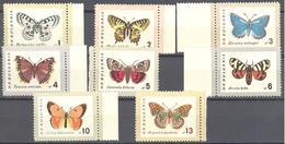 Bulgarie: Yvert N° 1155/1162**; MNH; Papillons; Butterflies - Bulgarien