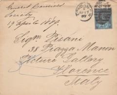 LETTERA 1889 2 1/2 TIMBRO LONDON REGNO UNITO (EX763 - 1840-1901 (Regina Victoria)