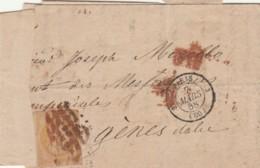 LETTERA 1858 FRANCIA TIMBRO PARIS (EX771 - France
