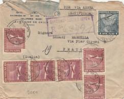 LETTERA 1949 CILE ARRIVO PRATO (EX797 - Cile