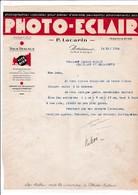 33-P.Lacarin Photo-Eclair Photos Spéciales Pour Pièces D'Identité, Passeports,.....Bordeaux (Gironde) 1934 - Old Professions