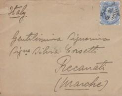 LETTERA 1930 INDIA ARRIVO RECANATI (EX817 - India