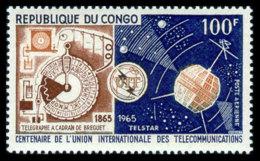 Congo Brazzaville, 1965, ITU, International Telecommunication Union, United Nations, Space, MNH, Michel 67 - Congo - Brazzaville