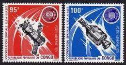 Congo Brazzaville, 1975, Space, Soyuz, Apollo, MNH, Michel 468-469 - Congo - Brazzaville