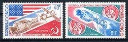 Congo Brazzaville, 1973, Space, Soyuz, Apollo, MNH, Michel 394-395 - Congo - Brazzaville